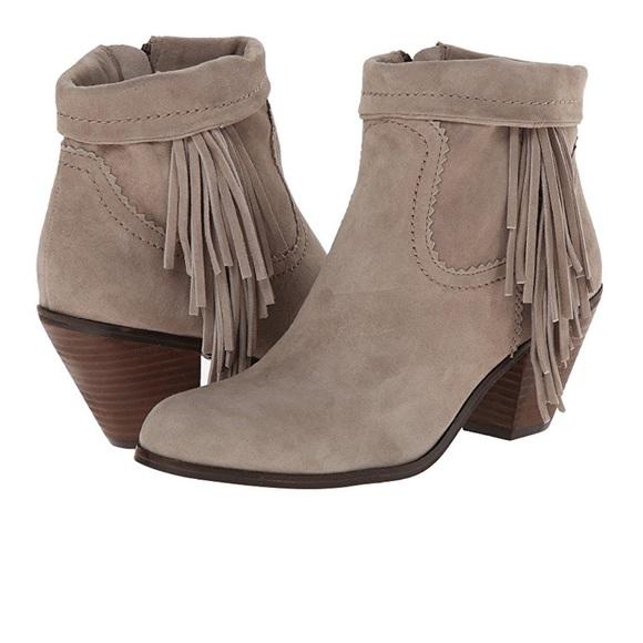 ce4cd7cc76615 Sam Edelman Louie Fringe Boots Short Booties 6.5. M 5aef9b011dffda159c313798